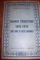 Trieste -Diario Triestino-libro 1815-1915.Cent'anni di lotta nazionale,1915 n.12