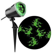 Gemmy Led Lightshow Projection Halloween Green Witches Decoration 1002371719
