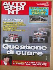 AUTOSPRINT n°15 1993 Mc Laren stradale - Gp D' Europa vittoria Ayrton Senna [P71