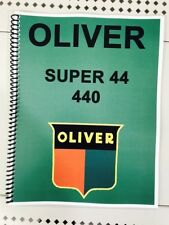 Super 44 Oliver Tractor Technical Service Shop Repair Manual