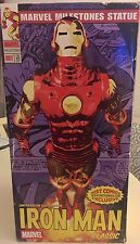 RARE IRON MAN MARVEL MILESTONES EXCLUSIVE CHROME STATUE 149/400 MINT CONDITION!