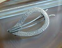 erlesene vintage brosche silber 835 diamantiert blattähnlich