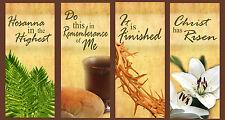 Inspirational Christian Church Banners - Easter Set A (Eng) (FOUR BANNER SET)