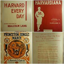 ANTIQUE RARE HARVARD PRINCETON FOOTBALL YALE  SHEET MUSIC COLLECTION IVY LEAGUE