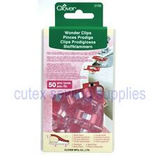Clover Wonder Clips - 50 Pack For Sewing, Crafts, Quilting, Arts