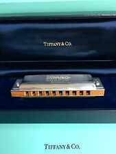Original Raro en Caja Vintage Tiffany & Co Plata Esterlina Armónica Hohner Alemán
