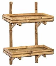 Bamboo Double Wall Shelf Natural 5865 NEW