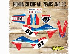 HONDA CR CRF 85 150 125 250 450 FULL GRAPHICS KIT-STICKER KIT-DECALS-MX-BLUE