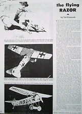 FOKKER D-VIII .02 FF PLAN & CONSTRUCTION ARTICLE for a Model Airplane