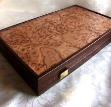 Luxus Walnuß Backgammon L mit Perlmutt Spielsteinen Manopoulos Handarbeit (2)