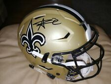 Alvin Kamara Autograph New Orleans Saints Authentic Speed Flex Helmet Signed JSA
