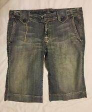 Seven 7 For All Mankind Womens 32 Capri Bermuda Shorts Jeans Made in USA 32 x 16