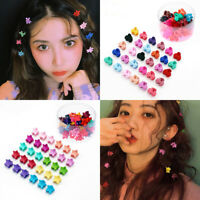 Kids Baby Girls Flower Hairpins Hair Claw Clip Candy Color Mini Claw Hair Clips