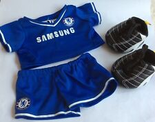 BUILD A BEAR – FOOTBALL KIT – CHELSEA F.C. OUTFIT & FOOTBALL BOOTS – SET/ TOY