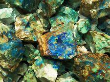 Azurite and Malachite Crystal Mineral Specimens Bulk Wholesale 1/4 Pound