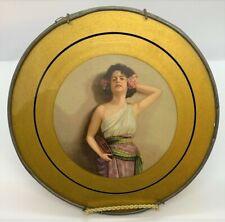 Vintage, Antique Posing Tambourine Girl, Gypsy Flue Cover, Victorian