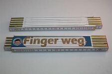 Zollstock mit  SPRUCH    FINGER WEG    Lasergravur 2 Meter Handwerkerqualität