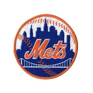 New York Mets Home & Road Orange Round Sleeve Jersey Patch (Orange Border)