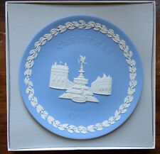 WEDGWOOD Blue Jasperware 1971 Christmas Plate Piccadilly Circus