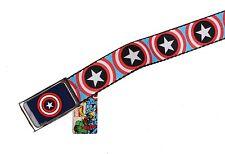 Marvel Original Buckle-Down Captain America Comics Heroes Adjustable Belt -NWT