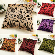 Floral Cushion Cover Case Pattern Throw Sofa Pillow Vintage Square Zip Flower