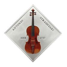 RARE Niue 1$ 2014 Silver 1oz STRADIVARIUS Lady blunt Violin w/ real wood inlay!