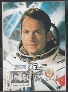 Soviet Russia 1981/82 space Maxi card Spaceman General G,Shonin Soyuz-6
