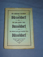 VINTAGE EARLY 1900S SOUVENIR DUSSELDORF GERMANY VIEWS   PICTURES POSTCARD
