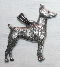 Doberman Pinscher Dog Harris Fine Pewter Pendant Usa Made
