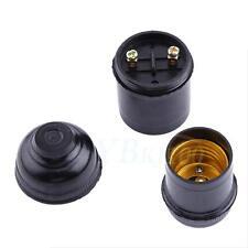 1Pc/ 5Pcs E27 Ampoule Porte-pendentif Vis à Prise en Spirale Douille Socket Noir