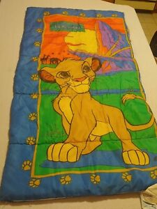 Vintage Disney The Lion King Child Slumber Sleeping Bag