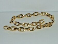 """TIFFANY & CO 18K YELLOW GOLD SOLID OVAL LINK 9"""" BRACELET"""