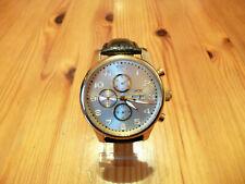 Hindenberg Automatik 20 Jewels Chronograh Herren Armbanduhr 210-H Fb.Gold/Silber