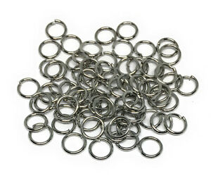 6mm hypoallergenic stainless steel jewelry chainmaille jump rings open 20 gauge