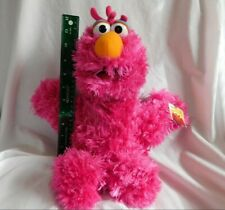 """New 17"""" Furry Pink Telly Monster Plush Sesame Street Place NWT Huggable 101112"""