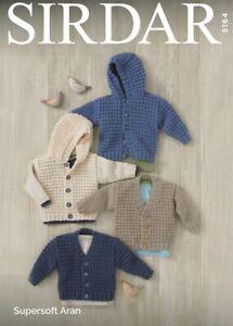 Sirdar 5164 Childrens Cardigans Knitting Pattern  - Aran