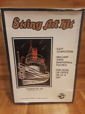 Vintage 1970's Tugboat No 183 String Art Kit Nautical Boat Unused New 15.5 x 11