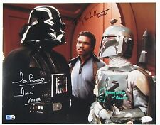 Star Wars JSA Billy Dee Williams Prowse Bulloch Autograph Signed Cast Photo
