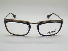 New Authentic PERSOL 3084-V 1009 Matte Blue/Havana Tortoise RX 53mm Eyeglasses
