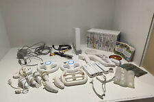 Nintendo Wii White Console Bundle Many Accessories & Controllers + 24 Games