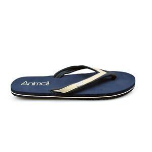 Animal® Swish Slim Blue Women's Black Flip Flops Sandals. Brand New on Sale