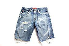 MENS VTG BIG STAR CUSTOM BLEACHED DISTRESSED STUDDED denim JEAN Shorts size 32