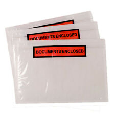 10,000x A5 PRINTED Documents Enclosed Plastic Postage Bags Labels