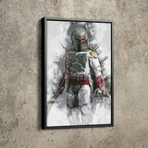 Boba Fett Poster Star Wars Poster Wall Art Decor