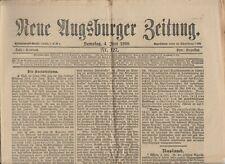 Neue Augsburger Zeitung Juni 1898 Nachrichten schöne alte Werbung Augsburg