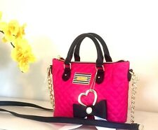 NWT Betsey Johnson Handbag Pinch Fushia Satchel Xbody Crossbody Bag BM19265