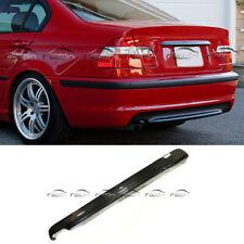 Fits for BMW E46 Rear Bumper Diffuser Lip Carbon Fiber M Tech Sedan 99-04