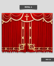 Saaria Royal-1 Church Event Hall Club Stage Home Theater Curtains 21'W x 10'H
