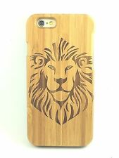 iPhone 5c Bamboo Wood Case ( Lion Laser Engraving ) 100% Genuine Wood Cover ✔️