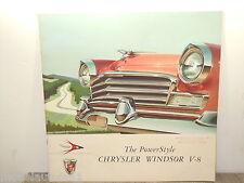 Folder/Brochure 1956 Chrysler Windsor V-8 *4895